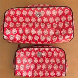 Set of 2 Tory Burch cosmetics bags